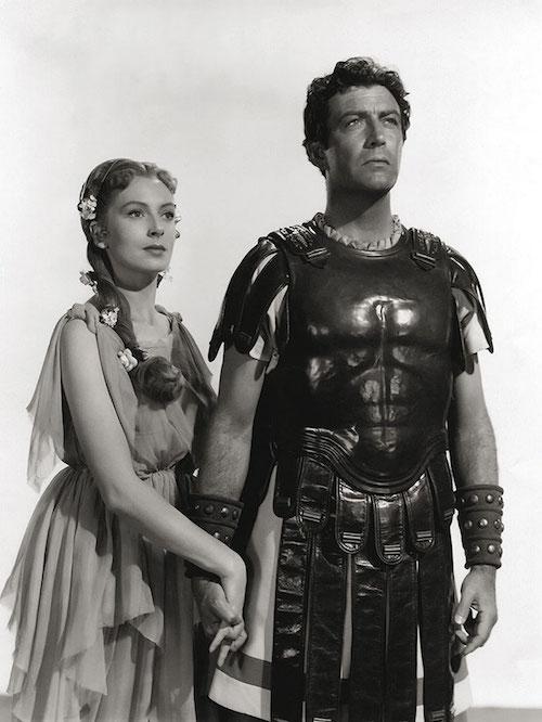 Deborah Kerr and Robert Taylor in a publicity still for Quo Vadis (1951)