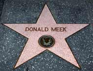 Donald Meek star on the Hollywood Walk of Fame
