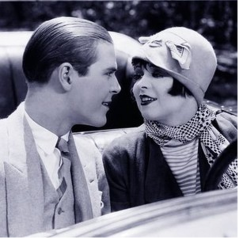 Donald Keith and Clara Bow in The Plastic Age (1925)