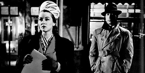 Claire Trevor and Lawrence Tierney in Born to Kill (1947)