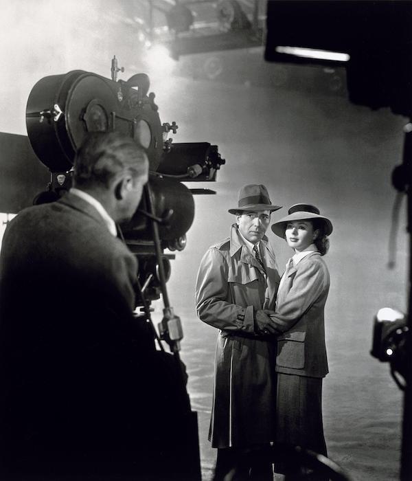 Casablanca - filming Humphrey Bogard and Ingrid Bergman