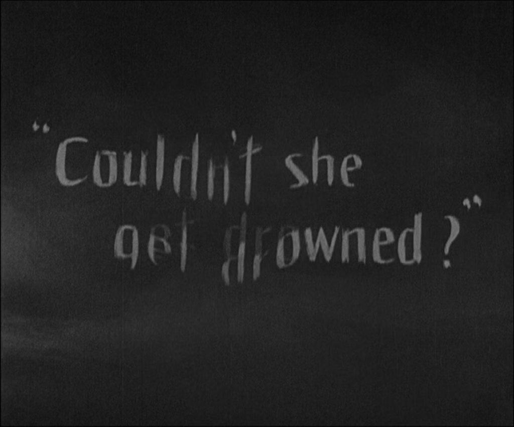 Sunrise (1927) Melting text scene effect