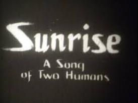 Sunrise (1927) title card