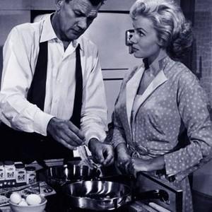 Joseph Cotten and Rhonda Fleming in The Killer is Loose (1956)
