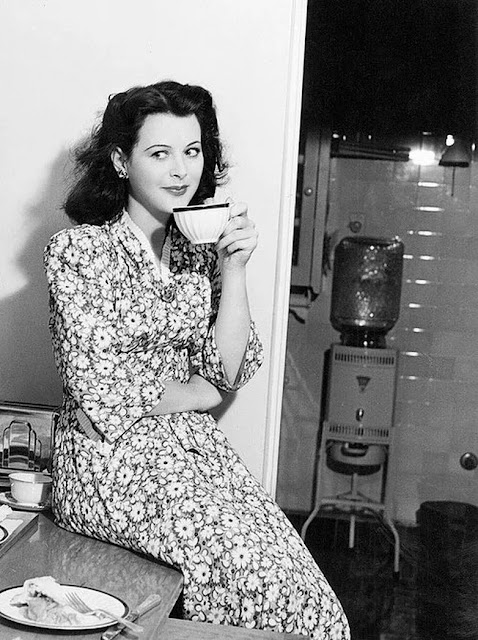 Hedy Lamarr at home in her normal state